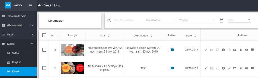 Webcast facebook live - logiciel en ligne
